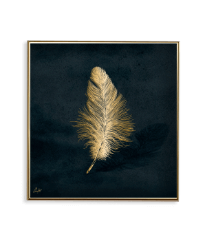 GOLD AMBIENCE FEATHER_SQ