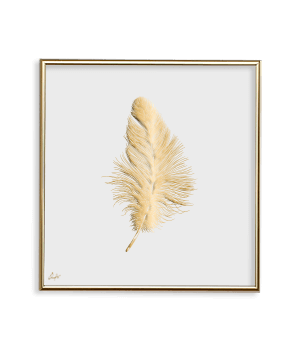 GOLD AMBIENCE FEATHER WHITE_SQ